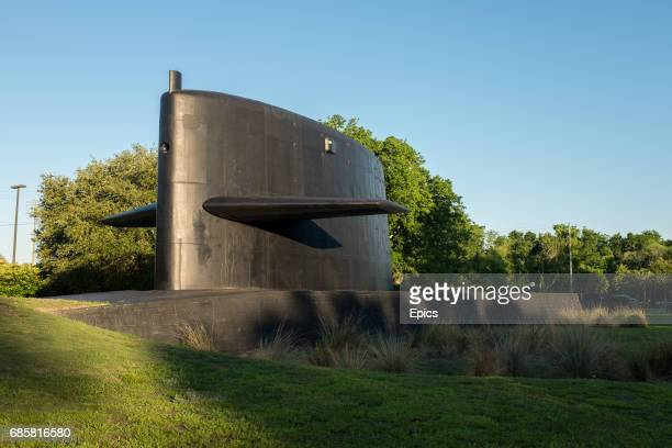 A general view of the cold war submarine memorial at Patriots Point in Charleston South Carolina the memorial pays tribute to the submariners who...