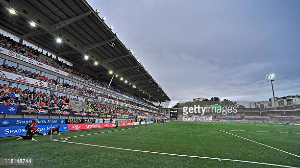 General view of the Color Line Stadion taken during the Norwegian Tippeligaen match between Aalesunds FK and Lillestrom SK held on June 25 2011 at...