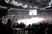 General view of the Colorado Avalanche against the Minnesota Wild in Game Seven of the First Round of the 2014 Stanley Cup Playoffs at the Pepsi...