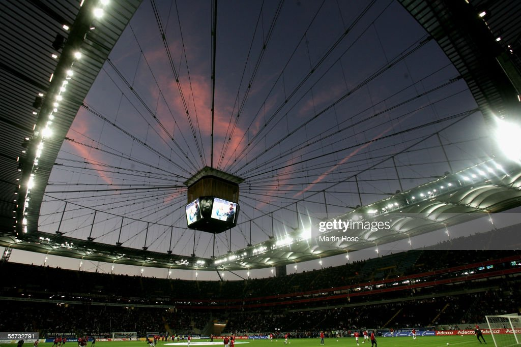 General view of the Commerzbank Arena during the Bundesliga match between Eintracht Frankfurt and Bayern Munich at the Commerzbank Arena on September...