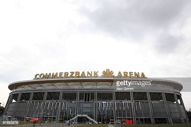 General view of the Commerzbank Arena is taken Photo by Alex Grimm/Bongarts/Getty Images