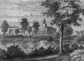 A general view of the commons and pond at Clapham London England 1790