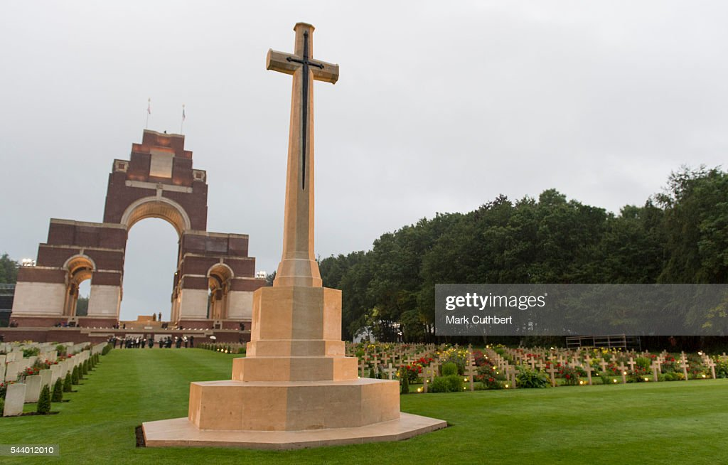 General view of The Commonwealth War Graves Commission Thiepval Memorial for the Commemoration of theÊCentenary of The Battle of the Somme on June 30, 2016 in Albert, France.