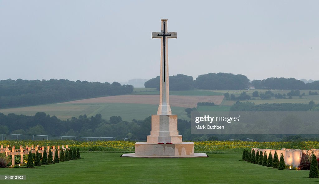 General view of The Commonwealth War Graves Commission Thiepval Memorial for the Commemoration of the Centenary of The Battle of the Somme on June 30, 2016 in Albert, France.