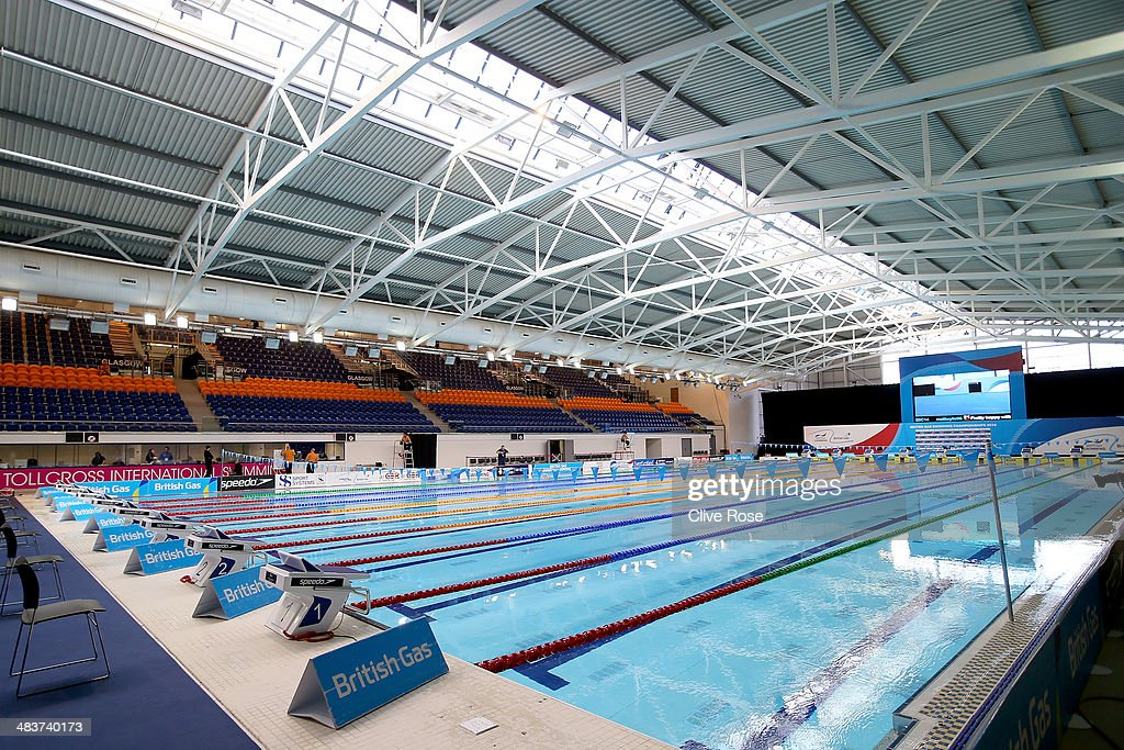 A general view of the competition pool on day one of the British Gas Swimming Championships 2014 at Tollcross International Swimming Centre on April 10, 2014 in Glasgow, Scotland. The pool will be used for the swimming events at the Glasgow 2014 Commonwealth Games.