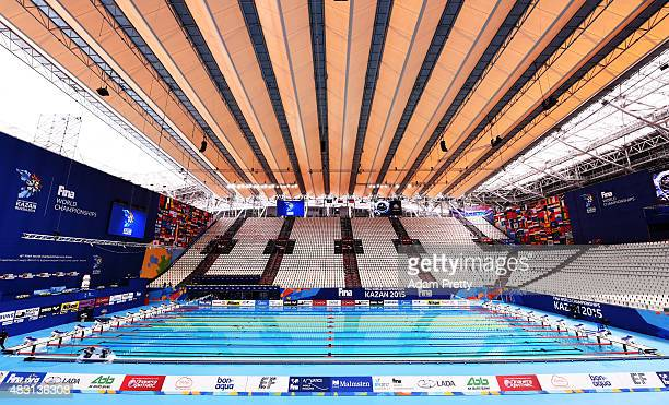 General view of the competition pool on day thirteen of the 16th FINA World Championships at the Kazan Arena on August 6 2015 in Kazan Russia