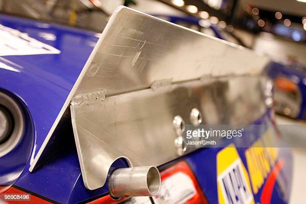 A general view of the concept spoiler for an upcoming test session as seen at Michael Waltrip Racing on January 20 2010 in Cornelius North Carolina