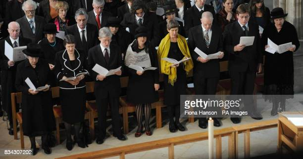 General view of the congregation including left to right Lady June Hillary wife of Sir Edmund Hillary New Zealand Prime Minister Helen Clark and...