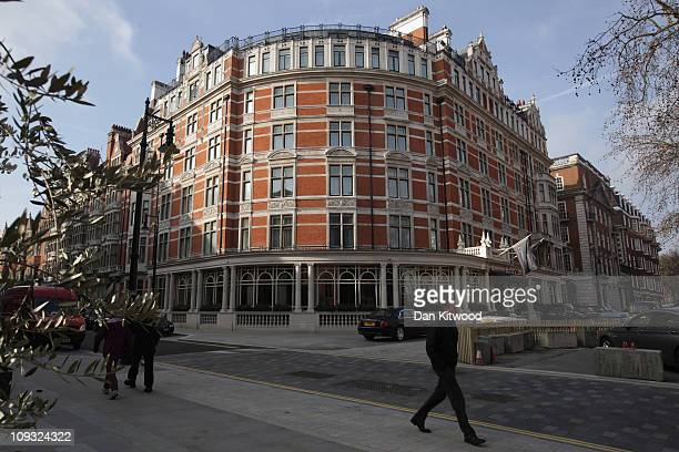 A general view of the Connaught Hotel in Mayfair on February 17 2011 in London England