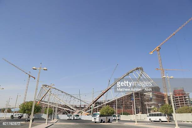 A general view of the construction and refurbishment of the Khalifa International Stadium also known as National Stadium in Doha Qatar and venue for...