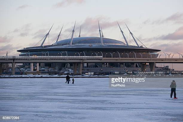 General view of the construction of Zenit Arena soccer stadium for the FIFA World Cup 2018 in St Petersburg Russia on 10 December 2016
