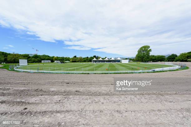 General view of the construction site at Hagley Oval during the Plunket Shield match between Canterbury and the Otago Volts on October 23 2017 in...
