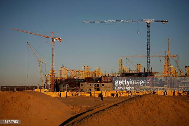 A general view of the construction site for Kazan's new football stadium on November 7 2011 in Kazan Russia Kazan is one of thirteen cities proposed...