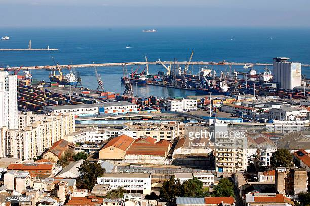A general view of the container port December 6 2007 taken from Mohamed Gacem street in Algiers Algeria