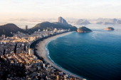 A general view of the Copacabana beach ahead of the FIFA Confederations Cup Brazil 2013 on June 6 2013 in Rio de Janeiro Brazil