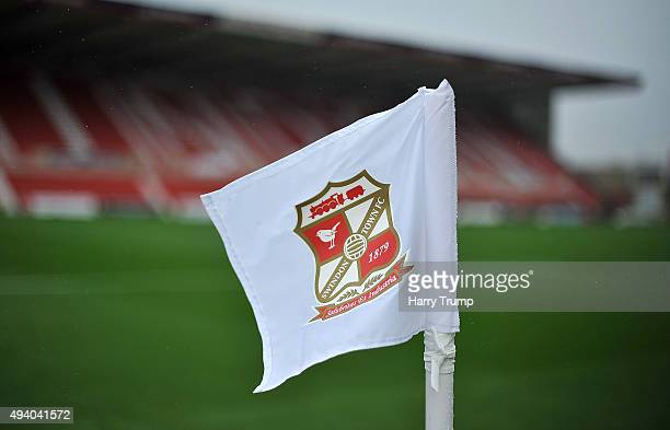 General view of the corner flag during the Sky Bet League One match between Swindon Town and Coventry City at The County Ground on October 24 2015 in...