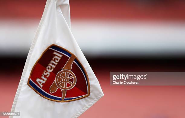 General view of the corner flag prior to the Premier League match between Arsenal and Sunderland at Emirates Stadium on May 16 2017 in London England
