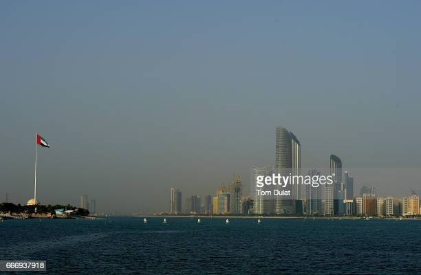 General view of The Corniche on April 10 2017 in Abu Dhabi United Arab Emirates