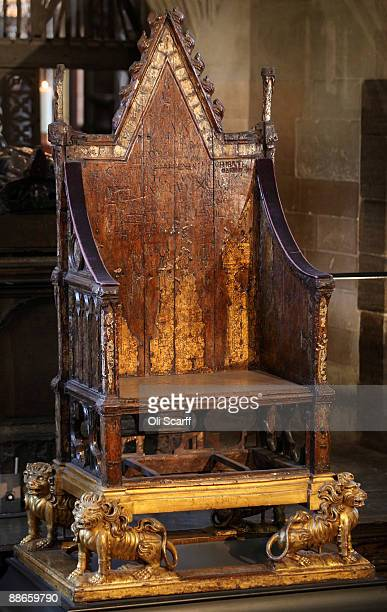A general view of the Coronation Chair in Westminster Abbey on which King Henry VIII was throned in 1509 exactly 500 years to the day on June 24 2009...