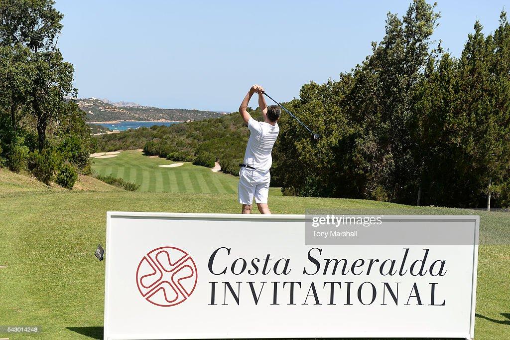 A general view of The Costa Smeralda Invitational golf tournament at Pevero Golf Club - Costa Smeralda on June 25, 2016 in Olbia, Italy.