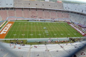 A general view of the Cotton Bowl before the Red River Shootout between the Oklahoma Sooners and the Texas Longhorns on October 12 2013 at The Cotton...