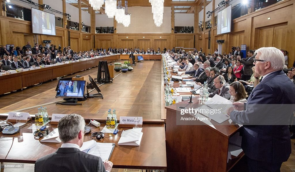 General view of the Counter-Terrorism Conference of the Organisation for Security and Cooperation in Europe (OSCE) at the foreign ministry in Berlin, Germany on May 31, 2016.