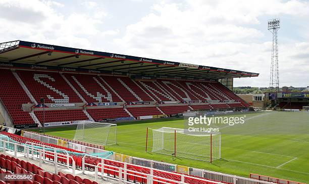 A general view of the County Ground during the Pre Season Friendly match between Swindon Town and Everton at the County Ground on July 11 2015 in...