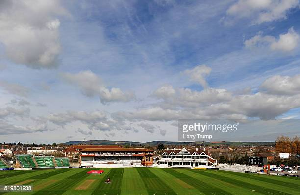 General view of the County Ground during the Somerset CCC Photocall at the County Ground on April 8 2016 in Taunton England