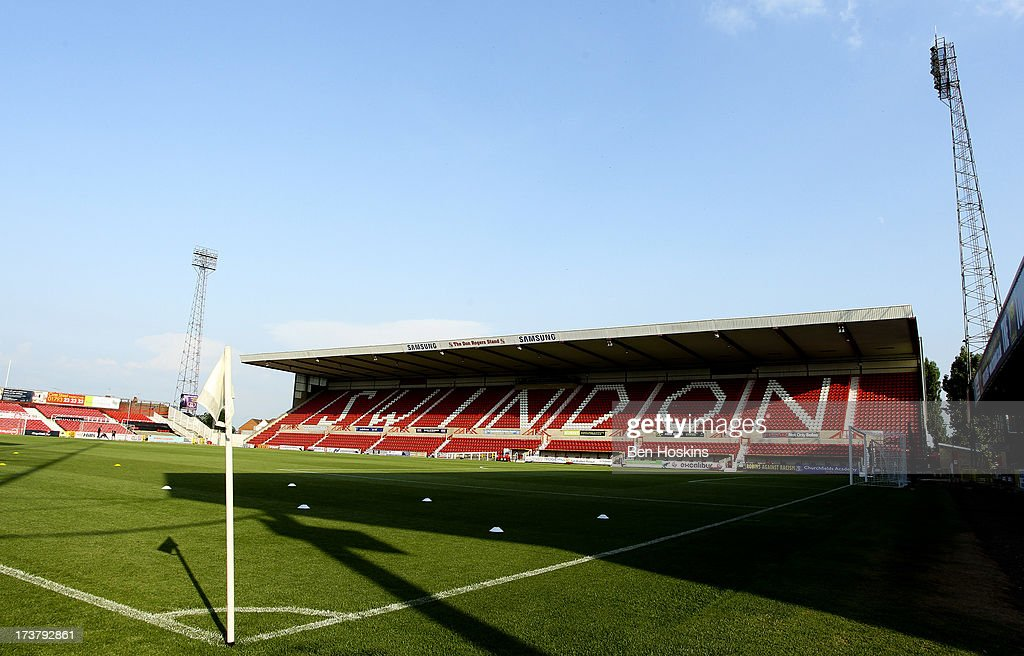 A general view of the County Ground prior to a pre season friendly match between Swindon Town and Birmingham City at The County Ground on July 17...