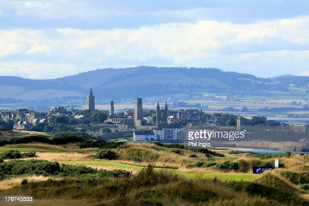 General view of the course and town of St Andrews during the final round of the SSE Scottish Senior Open played at the Torrance Championship Course...