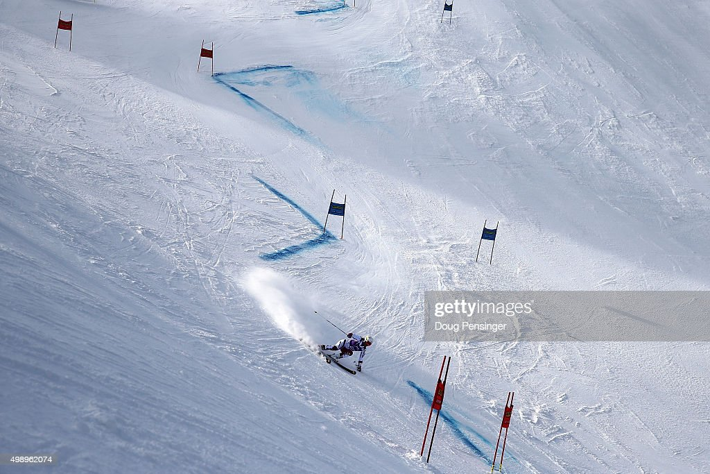 A general view of the course as Katerina Paulathova of Czech Republic competes in the first run of the giant slalom during the Audi FIS Women's Alpine Ski World Cup at the Nature Valley Aspen Winternational on November 27, 2015 in Aspen, Colorado.