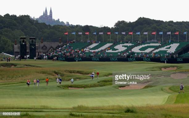 A general view of the course during a practice round prior to the 2017 US Open at Erin Hills on June 14 2017 in Hartford Wisconsin
