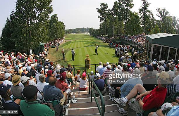 A general view of the course during the second round of The Presidents Cup at Robert Trent Jones Golf Club in Prince William County Virginia on...