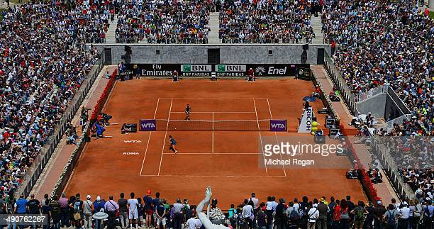 A general view of the court as Petra Cetkovska of the Czech Republic and Sara Errani of Italy play their match during day 5 of the Internazionali BNL...