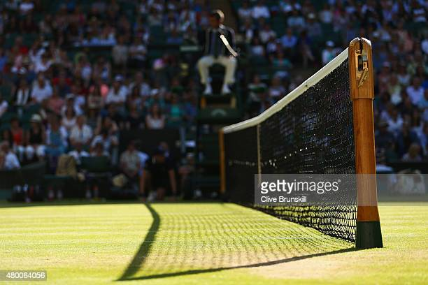 General View of the court during day ten of the Wimbledon Lawn Tennis Championships at the All England Lawn Tennis and Croquet Club on July 9 2015 in...