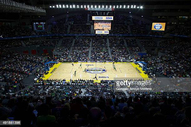 General view of the court during the friendlies of the NBA Global Games 2015 basketball match between Real Madrid and Boston Celtics at Barclaycard...