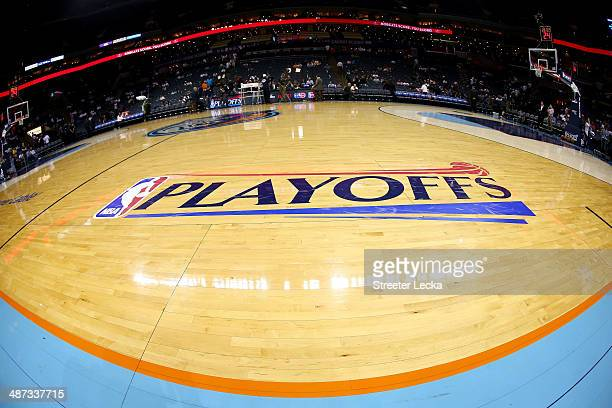A general view of the court prior to the game between the Charlotte Bobcats and Miami Heat in Game Four of the Eastern Conference Quarterfinals...
