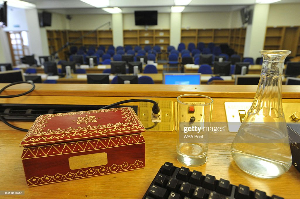 General view of the court room at the Royal Courts of Justice where Assistant Deputy Coroner Lady Justice Hallett is to preside over the inquest into...