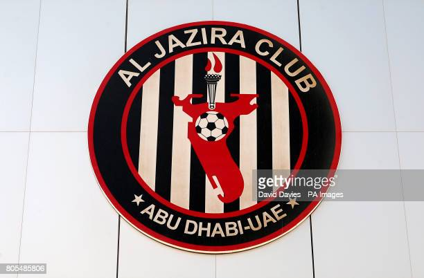 General view of the crest for Al Jazira Club who play at the Mohammed Bin Zayed Stadium