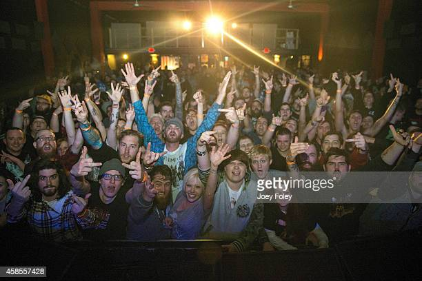 A general view of the crowd as Every Time I Die performs at The Emerson Theater on November 6 2014 in Indianapolis Indiana