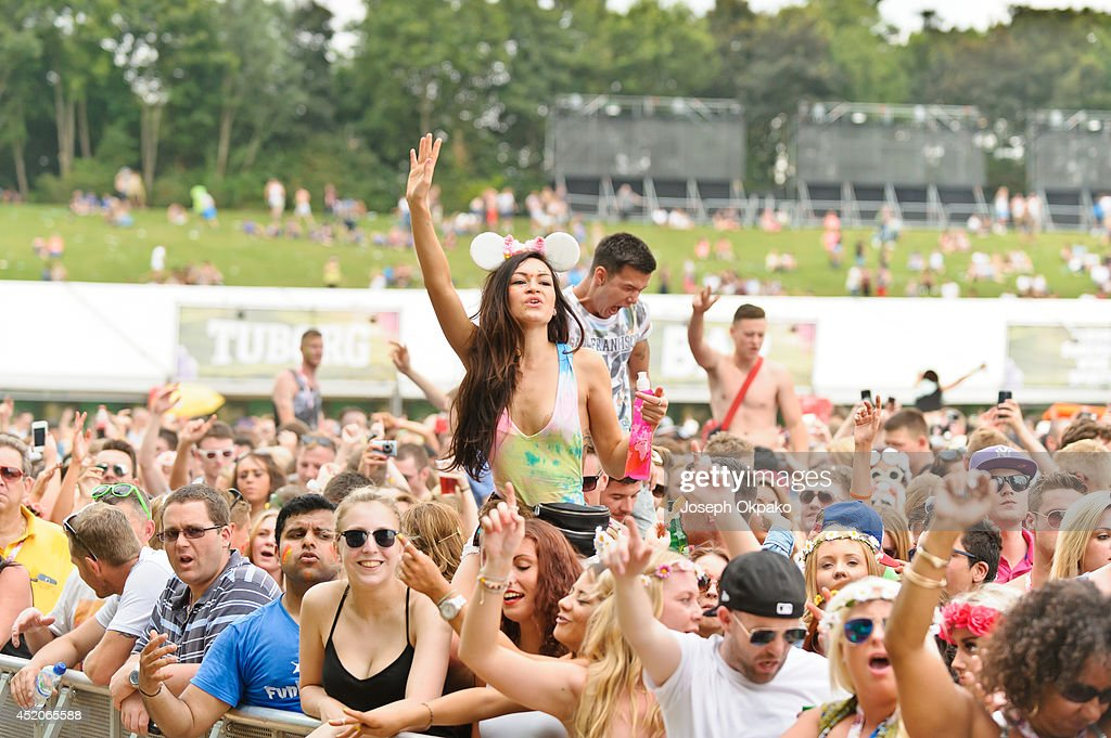General view of the crowd at Electric Daisy Carnival 2014 on July 12, 2014 in Milton Keynes, England.