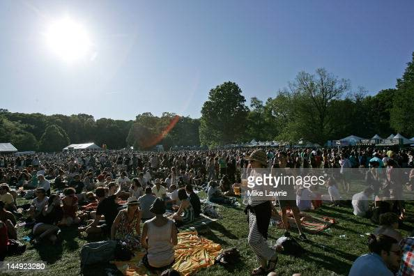 A general view of the crowd at the Great Googa Mooga 2012 at Prospect Park on May 20 2012 in the Brooklyn borough of New York City
