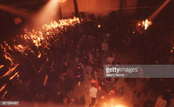A general view of the crowd at the Roundhouse during a Pink Floyd show London 15th October 1966
