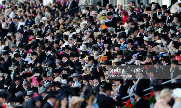 A general view of the crowd during day two of Royal Ascot at Ascot Racecourse on June 18 2014 in Ascot England