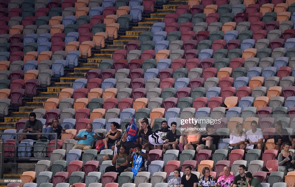 A general view of the crowd during the 2017 Rugby League World Cup match between Fiji and the United States on October 28, 2017 in Townsville, Australia.