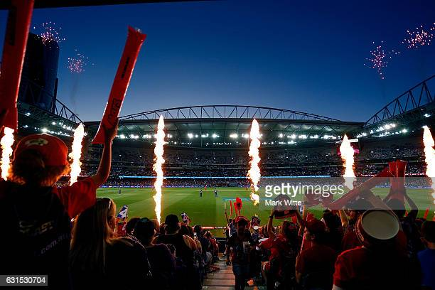 A general View of the crowd during the Big Bash League match between the Melbourne Renegades and the Hobart Hurricanes at Etihad Stadium on January...