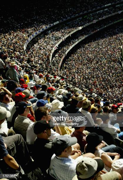 A general view of the crowd during the first day of the Boxing Day Fourth Ashes Test between Australia and England played at the Melbourne Cricket...