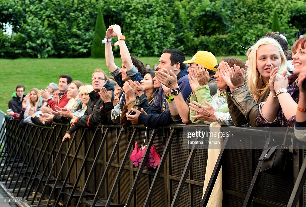 A general view of the crowd during the Sentebale Concert at Kensington Palace on June 28, 2016 in London, England. Sentebale was founded by Prince Harry and Prince Seeiso of Lesotho over ten years ago. It helps the vulnerable and HIV positive children of Lesotho and Botswana.