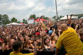 A general view of the crowd during the Vans Warped Tour 2013 at Klipsch Music Center on July 3 2013 in Noblesville Indiana