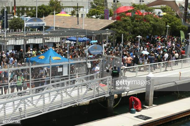 A general view of the crowd near the #IMDboat at San Diego ComicCon 2017 at The IMDb Yacht on July 22 2017 in San Diego California